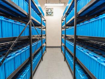 Racks of Data Center Batteries